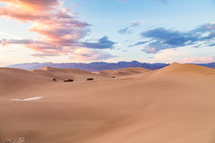 Sunset at Mesquite Flat Sand Dunes in Death Valley National Park, California, USA Stock Photos