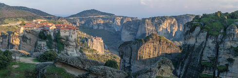 Sunset in Meteora Royalty Free Stock Photography