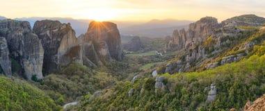 Sunset in Meteora Royalty Free Stock Image