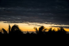 Sunset in the mexican sky Stock Photography