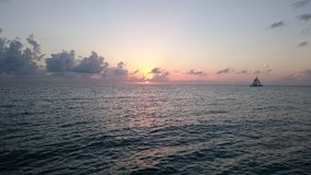 Sunset. Mexico Cozumel Sunset stock photo