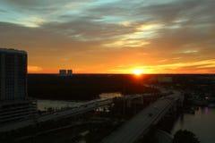 Sunset in miami beach Stock Photos