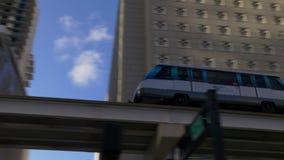 Sunset miami downtown metro ride on high 4k florida usa. Usa sunset miami downtown metro ride on high 4k florida stock footage