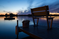Sunset On A Michigan Lake Royalty Free Stock Photography