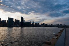 Sunset Midtown NYC Skyline View stock photo