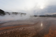 Sunset Grand Prismatic basin Royalty Free Stock Images