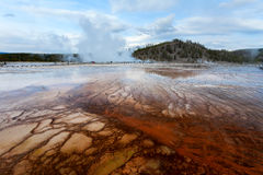 Sunset Midway Geyser basin Yellowstone Royalty Free Stock Image