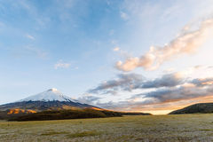 Sunset on the mighty Cotopaxi Volcano Royalty Free Stock Photography