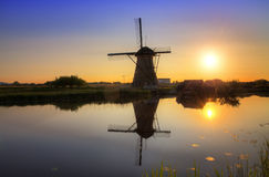 Sunset mill Royalty Free Stock Photography