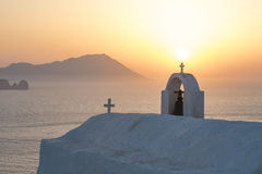 Sunset on Milos in Greece royalty free stock photo