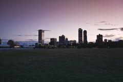 Sunset in Milwaukee Royalty Free Stock Photos