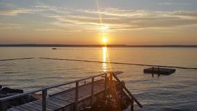 Sunset on Mindemoya. Royalty Free Stock Photo