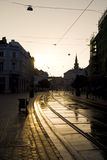 Sunset in Miskolc Royalty Free Stock Photography