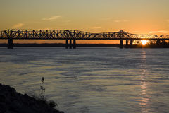 Sunset by Mississippi Stock Image