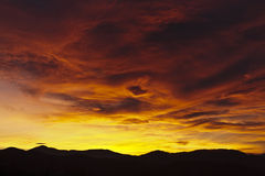 Sunset mix of colors Royalty Free Stock Images