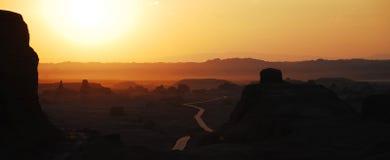 Sunset of moguicheng Stock Image