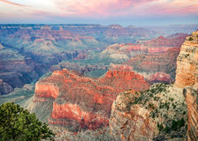Sunset at Mojave Point looking East in Grand Canyon Stock Photo