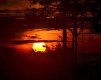 Sunset at Jerai Hill, Kedah royalty free stock image