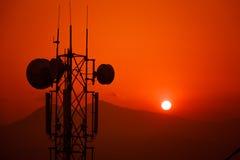 Sunset moment captured from the Sarangkot,Pokhara. Royalty Free Stock Photography