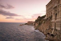 Sunset in the Monako stock photo