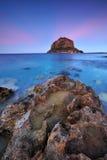 Sunset at Monemvassia royalty free stock photo
