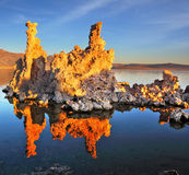 The sunset on Mono Lake Royalty Free Stock Image