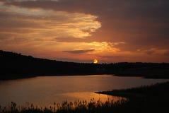 Sunset in Monsaraz Stock Photo