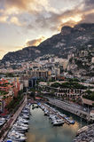 At sunset in monte carlo france Royalty Free Stock Images