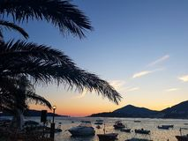Sunset in Montenegro Stock Photography