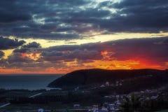Sunset in Montenegro Stock Photos
