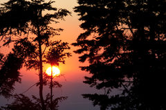 Sunset at Monteverde Cloud Forest Reserve Stock Photo