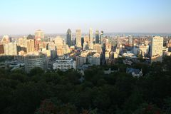 Sunset Montreal City Royalty Free Stock Images