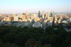 Sunset Montreal City stock photos