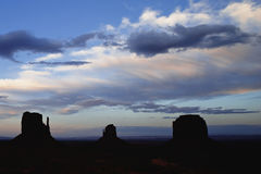 Sunset on Monument Valley Stock Photos