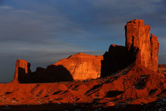 Sunset at Monument Valley Royalty Free Stock Photos