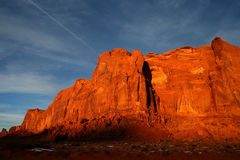 Sunset at Monument Valley Royalty Free Stock Photography