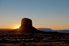 Sunset at Monument Valley  Stock Image