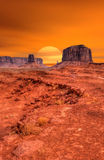 Sunset Monument Valley Stock Photography