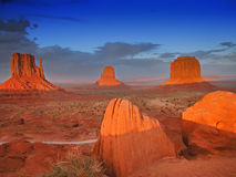 Sunset in Monument Valley, U.S.A., August 2004 Stock Image