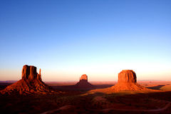 Sunset in Monument Valley,Utah. United States Royalty Free Stock Photography