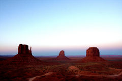 Sunset in Monument Valley,Utah. United States Royalty Free Stock Images