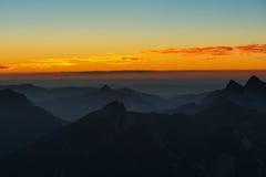 Sunset mood in austrian mountains Stock Photos