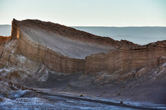 Sunset in the Moon Valley in the Atacama Desert, Chile Royalty Free Stock Photography