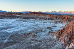 Sunset in the Moon Valley in the Atacama Desert, Chile Stock Image