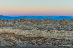 Sunset in the Moon Valley in the Atacama Desert, Chile Stock Photo