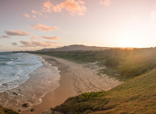 Sunset at Moonee Beach Royalty Free Stock Image