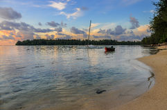 Sunset in Moorea Royalty Free Stock Images