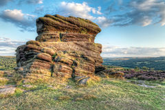 Sunset at Moorland Stock Photography
