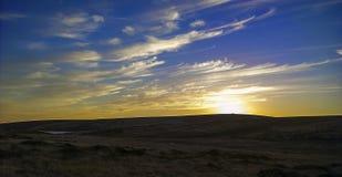 Sunset moors Stock Photo