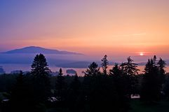 Sunset on Moosehead Lake Royalty Free Stock Photos